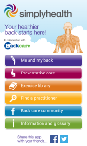 Simply Health BackCare App