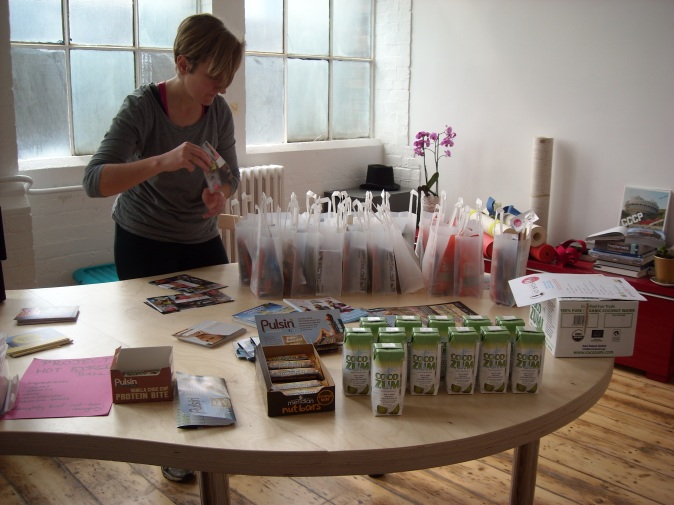 Ele prepping goodie bags