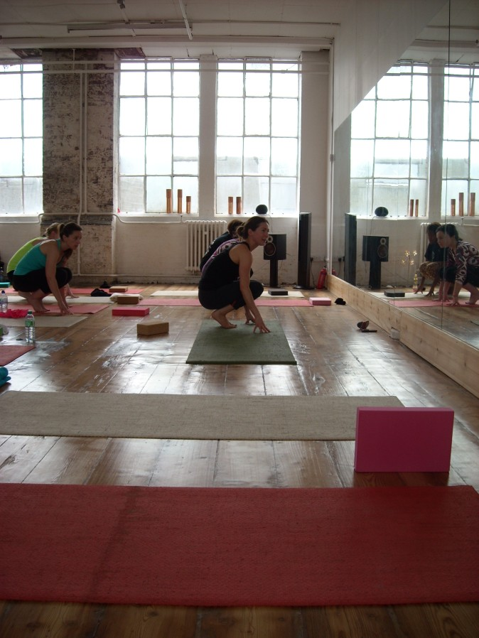 Toni Osborne yoga demo
