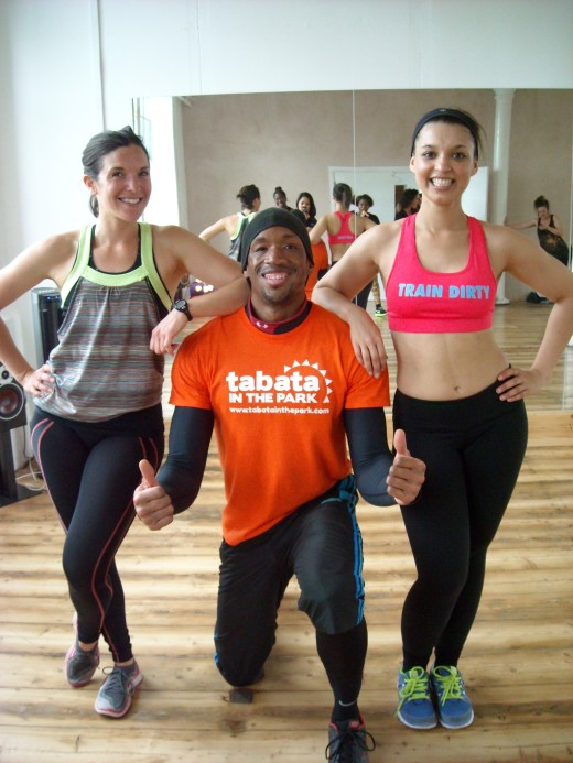 Kate (AKA Form Fitness and my fitness wife), Ty from Tabata in the Park, and little old Project HB :)
