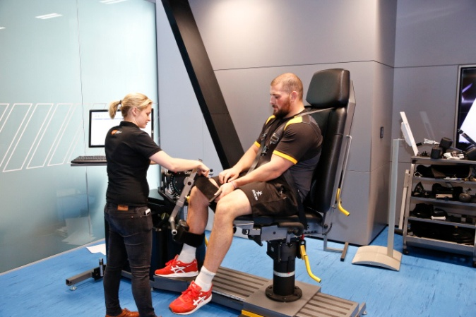 London Wasps showing testing for muscle power
