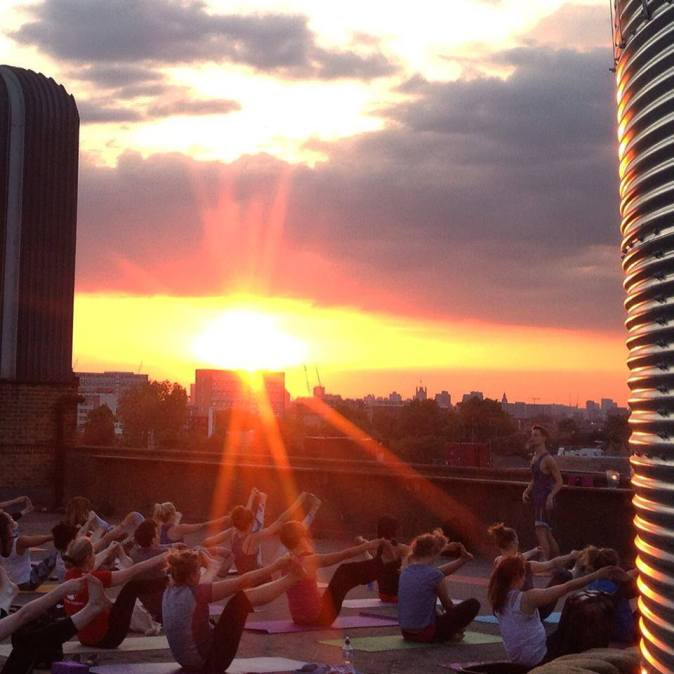 Rooftop Yoga Peckham hosted by Lucy Yoga and Project HB