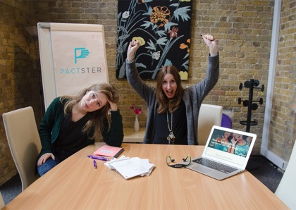 Co-founders of Pactaster- Katie going on maternity leave and Imme taking over!