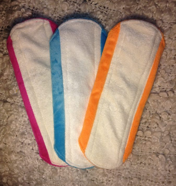 Cheeky Wipes bamboo material sanitary pads